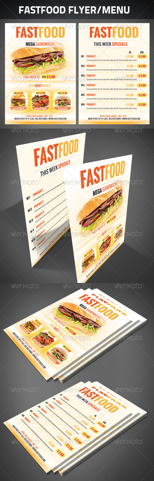 FastFood Flyer - Restaurant Flyers