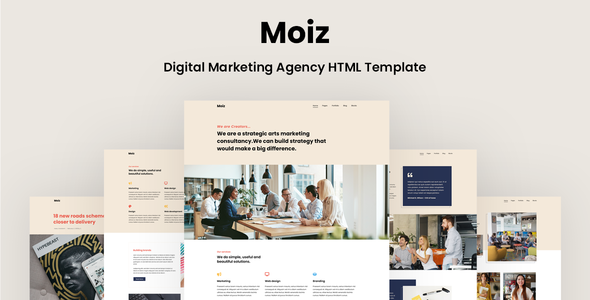 Moiz - Digital Marketing Agency HTML Template