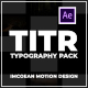 TITR | Dynamic Typography Pack - VideoHive Item for Sale
