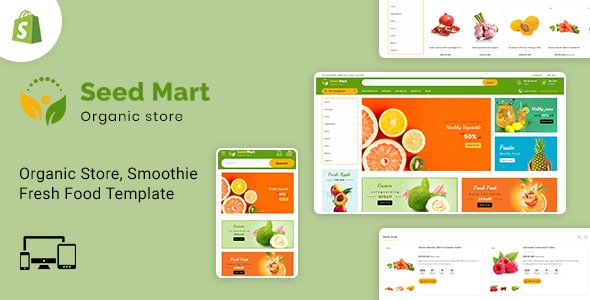 SeedMart – Shopify Food & Grocery Store