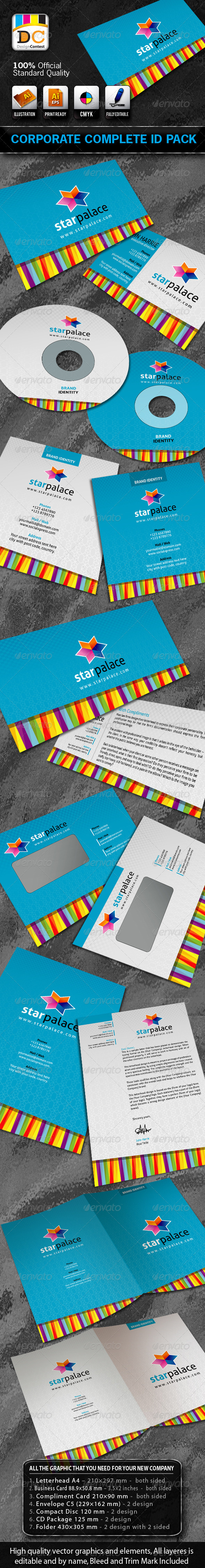 Star Palace Corporate ID Pack + Logo - Stationery Print Templates