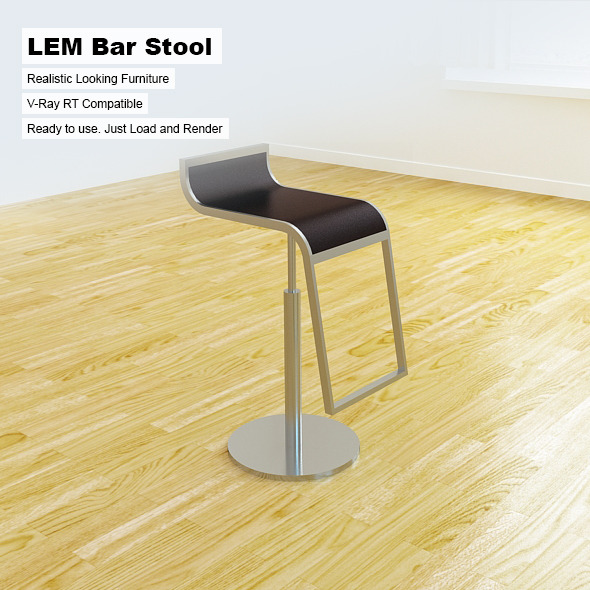 LEM Bar Stool - 3DOcean Item for Sale