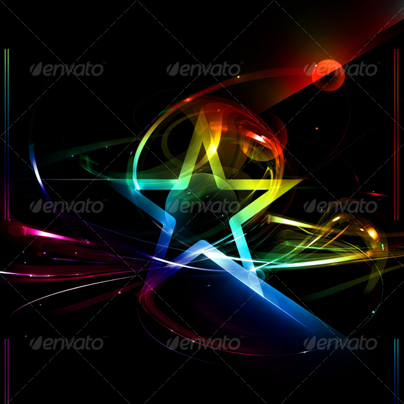 Beautiful Abstract Fantasy Background With Star - Abstract Backgrounds