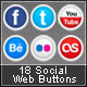 18 Social Web Buttons  - GraphicRiver Item for Sale