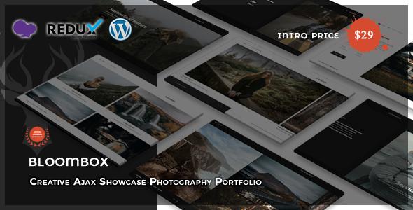 Bloombox - Ajax Showcase Photography WordPress Theme