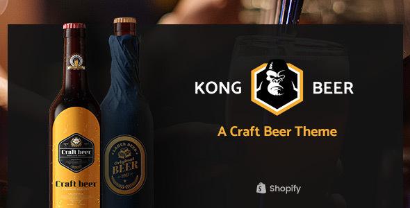Kong – Alcohol, Beer & Liquor Store Shopify Theme