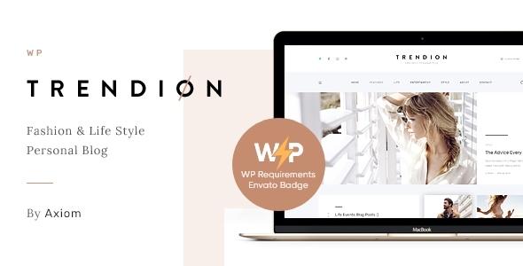 Trendion | A Personal Lifestyle Blog and Magazine WordPress Theme