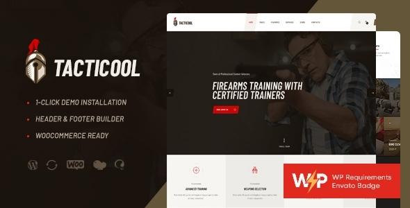 Excellent Tacticool | Shooting Range & Gun Store WordPress Theme