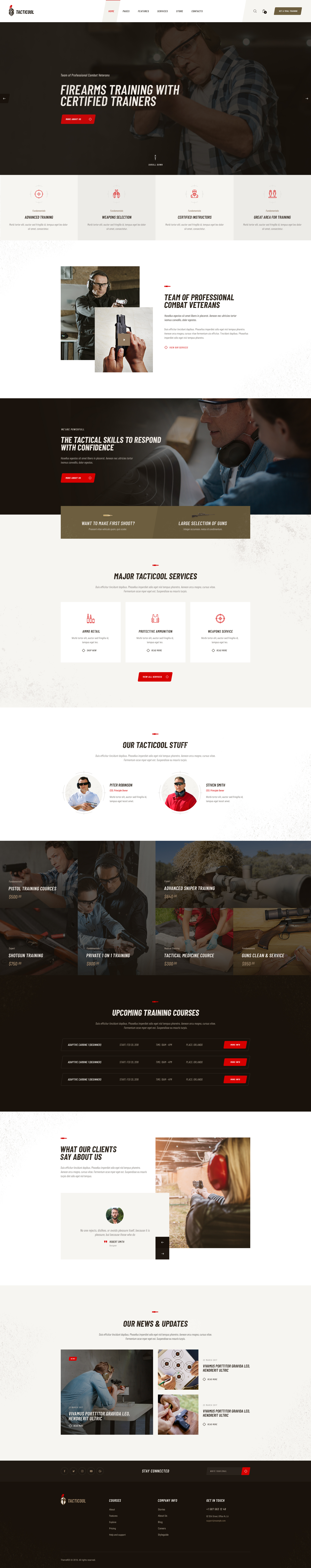 Tacticool Shooting Range Gun Store Wordpress Theme By Axiomthemes