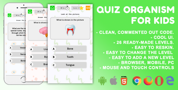 Quiz Organism For Kids. Mobile Game .c3p }}