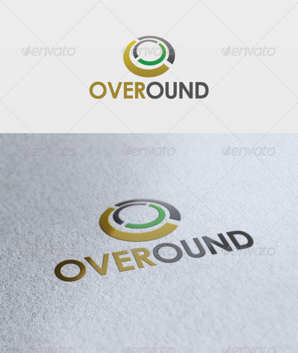 Over Round Logo - Vector Abstract