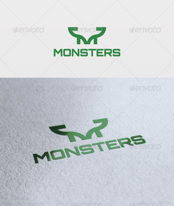 Monsters Logo - Letters Logo Templates