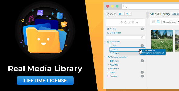 WordPress Real Media Library: Media Library Folder & File Manager for Media Management Nulled