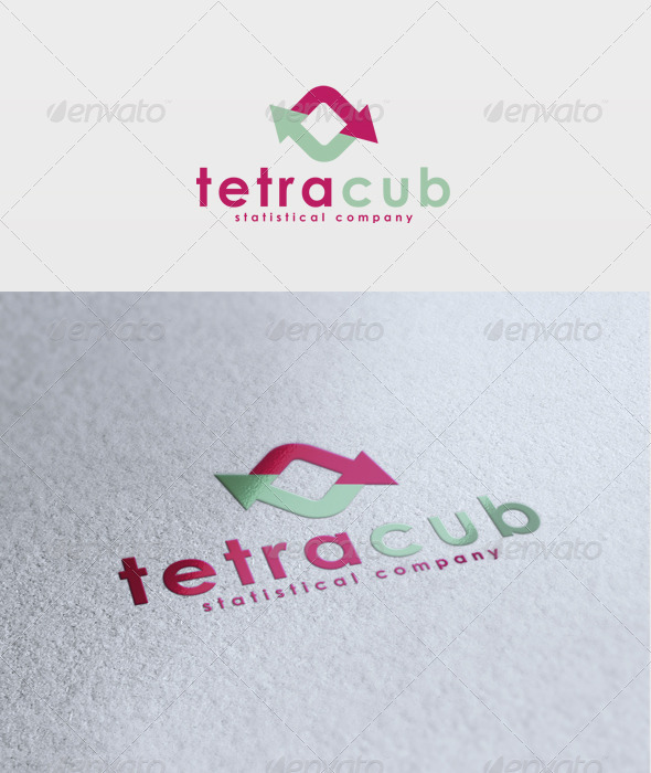 Tetra Cub Logo - Vector Abstract