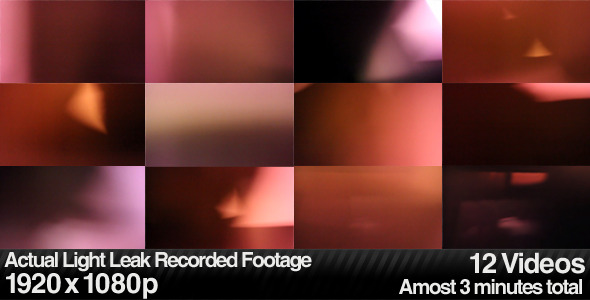Actual Light Leaks, Burns & Lens Flares (12-Pack) by butlerm | VideoHive