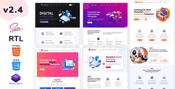 Loptus – Digital Marketing Agency Responsive HTML5 Template