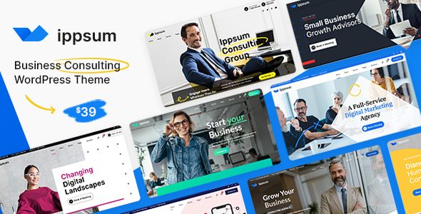 Download Ippsum – Business Consulting WordPress Theme Free Nulled