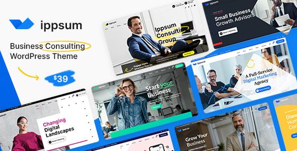 Ippsum - Business Consulting WordPress Theme