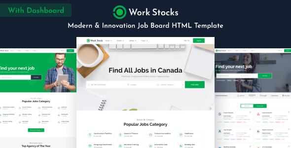 Work Stocks - Job Board HTML Template
