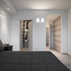 Modern Bedroom Interior with Parquet Floor overlooking on the Wardrobe and the Entrance - PhotoDune Item for Sale