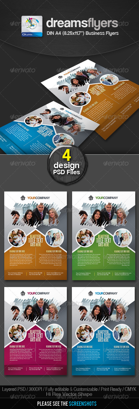 Brush Multipurpose Business Flyers - Corporate Flyers