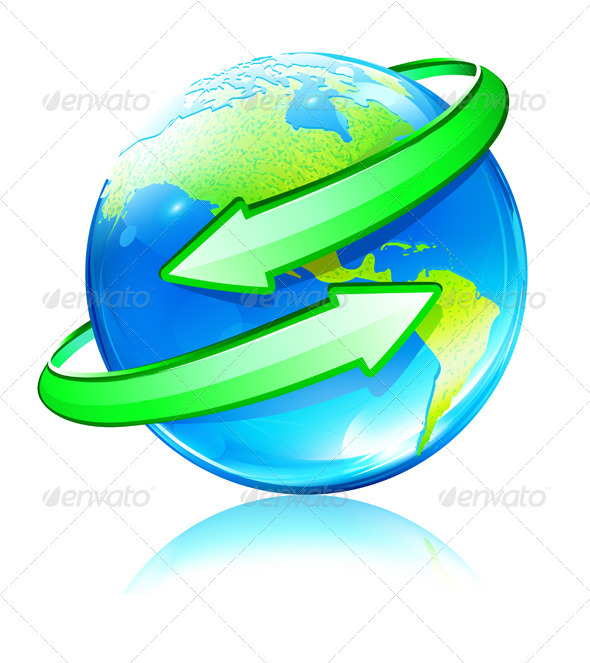 Earth Map Globe  - Conceptual Vectors