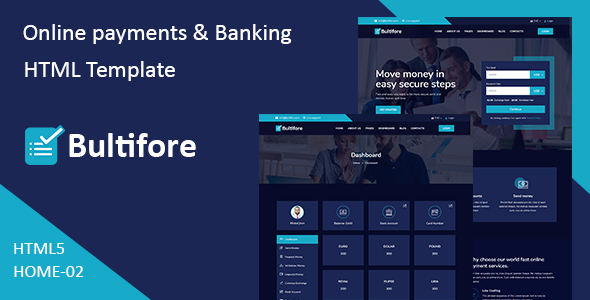 Bultifore - Online Payment & Banking HTML Template