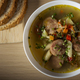 Soup with sausages, vegetables and pasta - PhotoDune Item for Sale