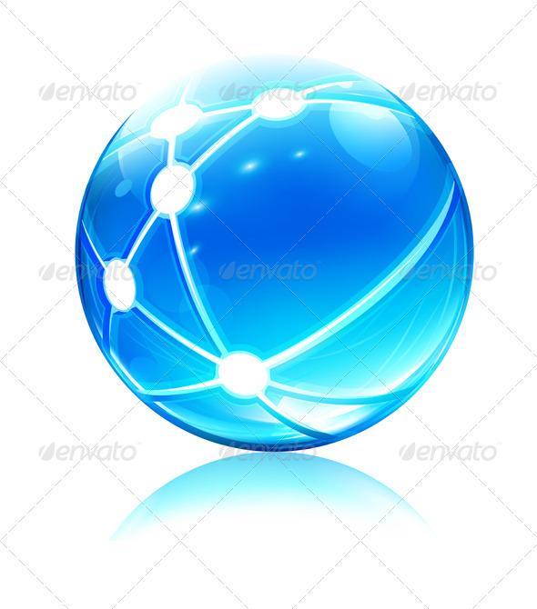 Network sphere - Conceptual Vectors