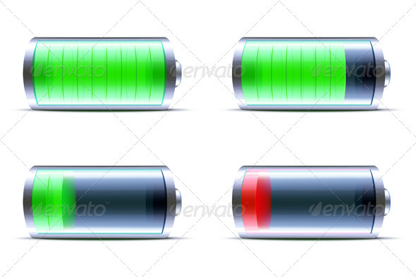 Battery level indicator - Technology Conceptual