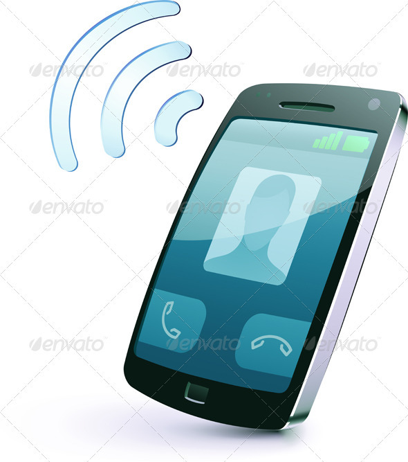 Cellphone icon - Communications Technology