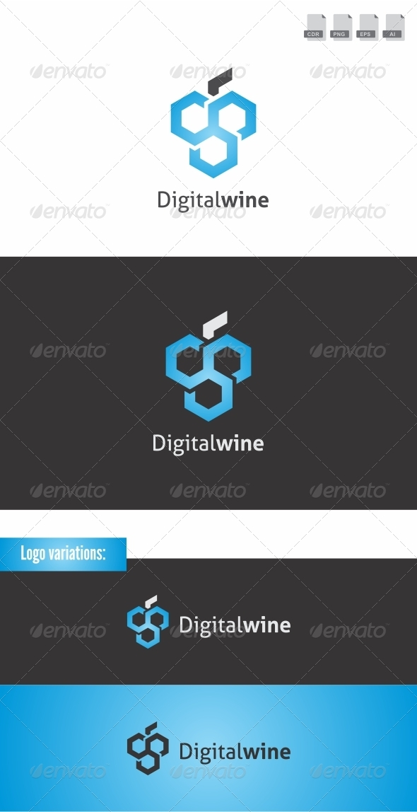 Digitalwine - Symbols Logo Templates