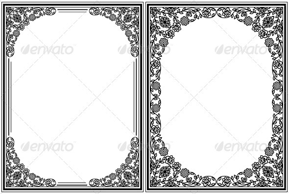 Vintage floral frames - Borders Decorative