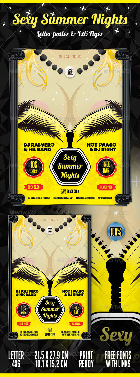 Sexy Summer Nights Poster & Flyer - Clubs & Parties Events