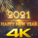 Happy New Year 2021 Gold - VideoHive Item for Sale