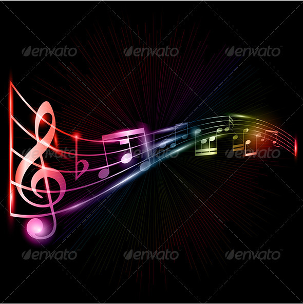 Music notes background - Backgrounds Decorative