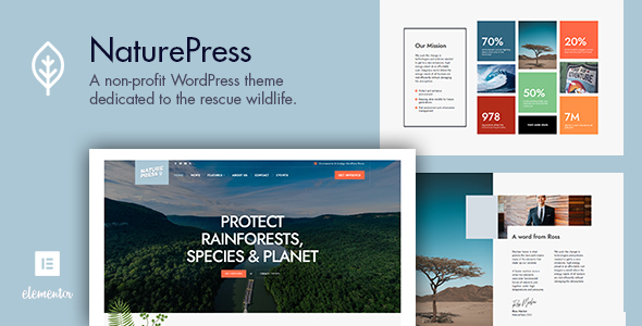 NaturePress - Ecology & Environment WordPress Theme