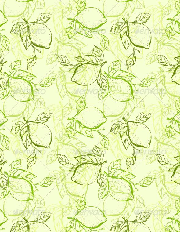 Lemon Seamless Pattern - Patterns Decorative