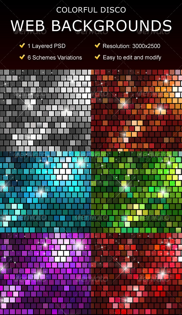 Disco Web Backgrounds - Backgrounds Graphics