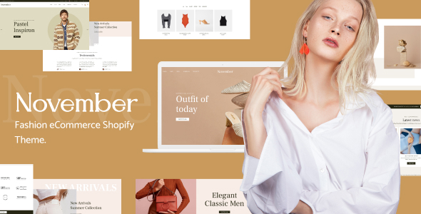 November – Multipurpose Sections Shopify Theme