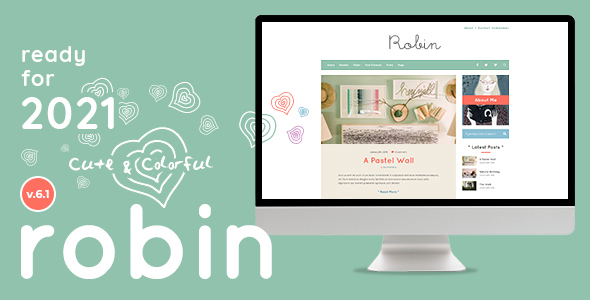 Robin - Cute & Colorful Blog Theme
