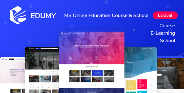 Edumy - LMS Online Education Course & School Management Laravel System