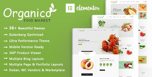 Organico   Organic Food WooCommerce WordPress Theme