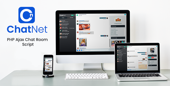 ChatNet - PHP Ajax Chat Room & Private Chat Script