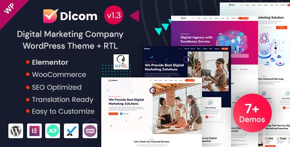 Dicom - Elementor SEO & Marketing Agency WordPress Theme
