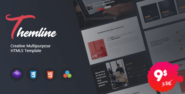 Themline - Creative Multipurpose One page Template