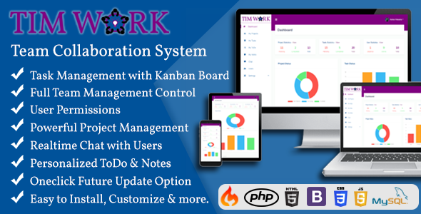 TimWork - Team Collaboration Tool and Project Management System