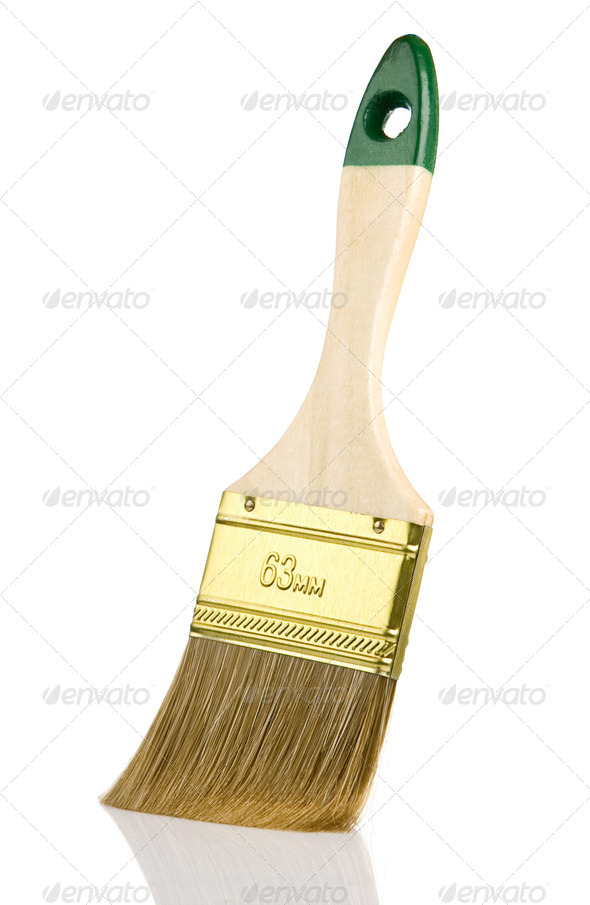 paintbrush isolated on white background - Stock Photo - Images