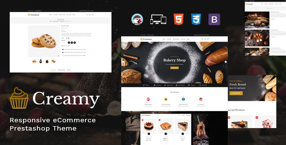 Creamy – Bakery Prestashop Theme