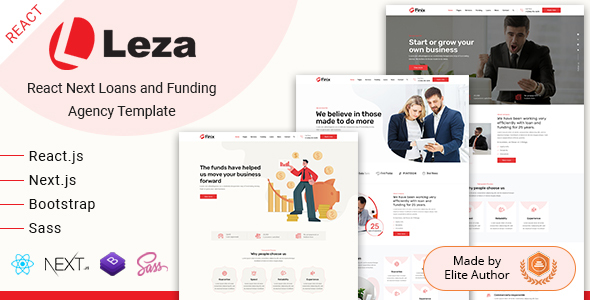 Leza - React Next Loans & Funding Agency Template